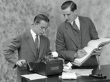 1920s Bookkeeper and Young Assistant