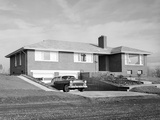 Newly Constructed Suburban Home in Washington State  Ca 1957