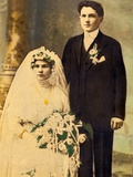Husband and Wife in a Wedding Portait  Ca 1916