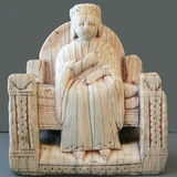European Chess Figure of Enthroned Queen
