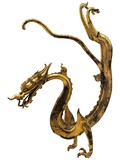 Tang Dynasty Gilt Bronze Dragon