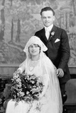 Wedding Portrait of Young Couple  Ca 1924