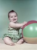1960s Baby Beach Ball Bathing Suit