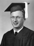 High School Graduation Portrait of Young Man  Ca 1945