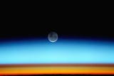 Moonset Seen from Space