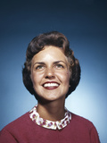 1960s Smiling Woman Looking Up