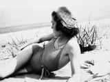 Young Woman at the Beach  Ca 1938