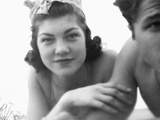 Young Woman and Boyfriend at the Beach  Ca 1938