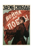 Poster of Russian Soldier with Flag