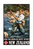 For the World's Best Sport, New Zealand Poster Giclée par M.A. Poulton
