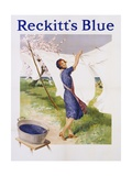 Reckitt's Blue Dye Advertisement Poster