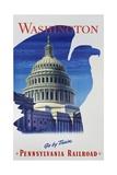 Washington - Go by Train - Pennsylvania Railroad Travel Poster