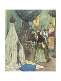 Illustration Depicting Fairy Uglyane Casting a Spell