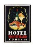 Hotel St. Gotthard Zurich Poster Giclée par Otto Baumberger