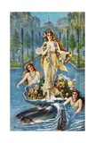 Postcard of Alaska-Yukon-Pacific Allegorical Painting