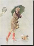 Girl with Boots and Dog