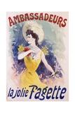 Ambassadeurs: La Jolie Fagette Poster Giclée par Jules Chéret