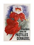Pastilles Geraudel Poster Giclée par Jules Chéret