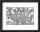 Untitled, 1982 Reproduction giclée encadrée par Keith Haring