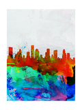 Houston Watercolor Skyline