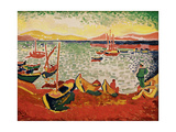Boats in the Harbour at Collioure  1905