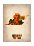Memphis Watercolor Map