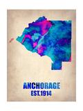 Anchorage Watercolor Map