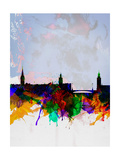 Stockholm Watercolor Skyline
