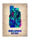 Minneapolis Watercolor Map