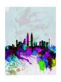 Kuala Lumpur Watercolor Skyline
