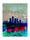 Detroit Watercolor Skyline
