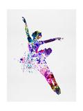 Flying Ballerina Watercolor 1 Reproduction d'art par Irina March