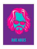 Dude Abides Purple Poster