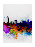 New York Watercolor Skyline 1