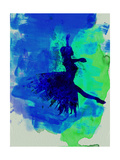 Ballerina on Stage Watercolor 5