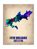 New Orleans Watercolor Map