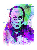 Dalai Lama Watercolor Reproduction d'art par Anna Malkin