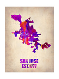 San Jose Watercolor Map