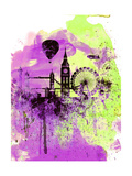 London Watercolor Skyline 1