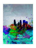 Minneapolis Watercolor Skyline