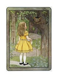 Book Illustration of Alice and the Cheshire Cat
