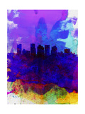 Phoenix Watercolor Skyline 1