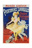 French Poster for Early Motion Picture Pantommes Lumineuses Giclée par Jules Chéret