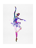 Ballerina Dancing Watercolor 2 Reproduction d'art par Irina March