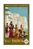 Visit India - Indian State Railways  Udaipur Poster