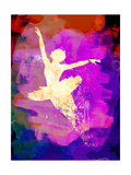 Flying Ballerina Watercolor 2