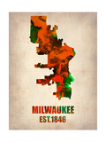 Milwaukee Watercolor Map
