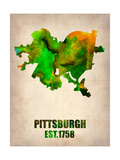 Pittsburgh Watercolor Map