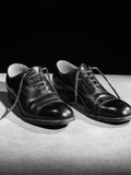 1930s Pair of Black Lace Up Men's Shoes