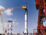 1960s Preparing Gemini Rocket for Launch Cape Canaveral Florida